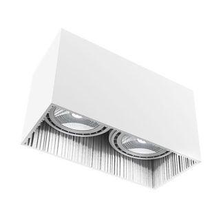 Oczko stropowe Groove - białe, 2 punkty światła