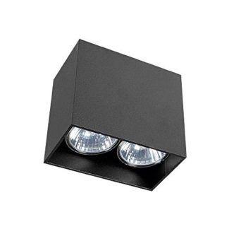 Czarne oczko stropowe Gap - dwa punkty światła
