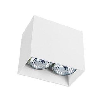 Podwójne oczko stropowe Gap - biała oprawa