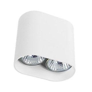 Białe oczko stropowe Pag - 2 źródła światła