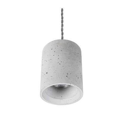 betonowa lampa wisząca