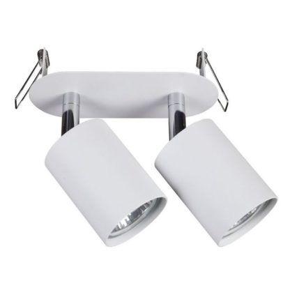 lampa sufitowa białe regulowane reflektory