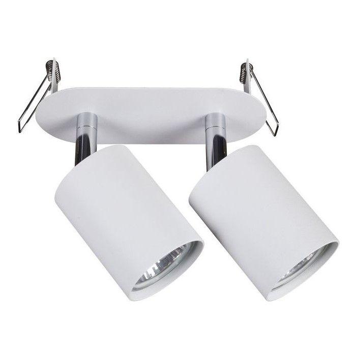 podwójna lampa sufitowa z regulowanymi reflektorami