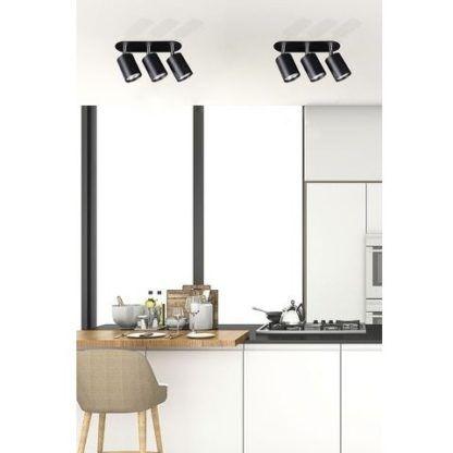 czarne lampy sufitowe nowoczesne reflektory aranżacja