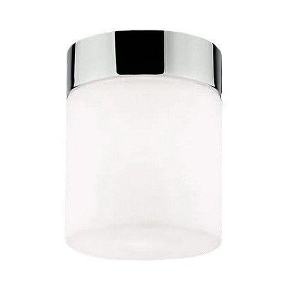 nieduża lampa sufitowa ze szklanym kloszem