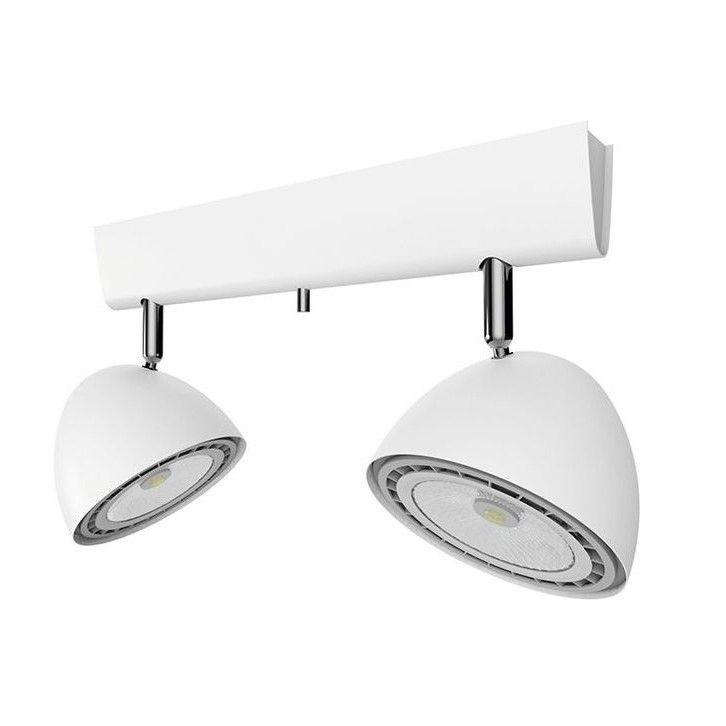 biała lampa sufitowa reflektor