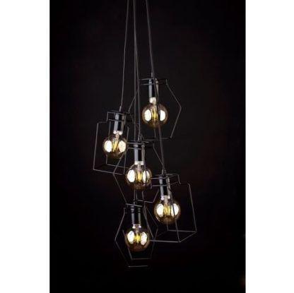druciana lampa wisząca różne kształty