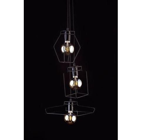 lampa wisząca czarne druciaki