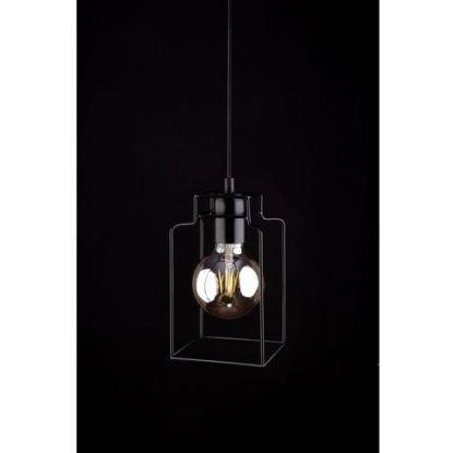 lampa z drucianym obrysem