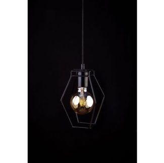 Czarna lampa wisząca Fiord - druciana