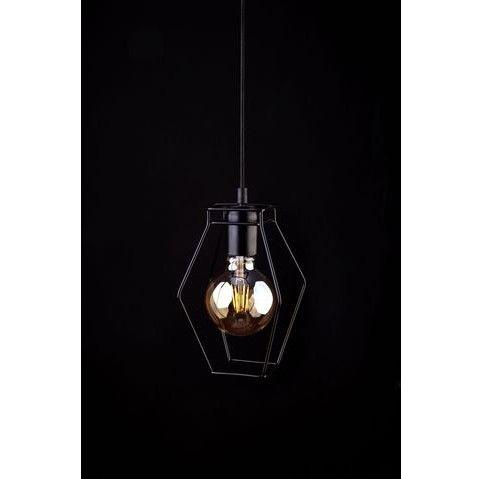 geometryczna druciana lampa wisząca