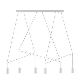 Minimalistyczna lampa wisząca Imbria - biała