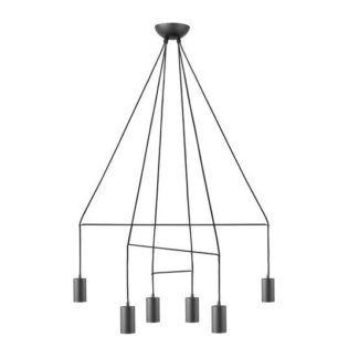 Czarny żyrandol Imbria - minimalistyczny, nowoczesny