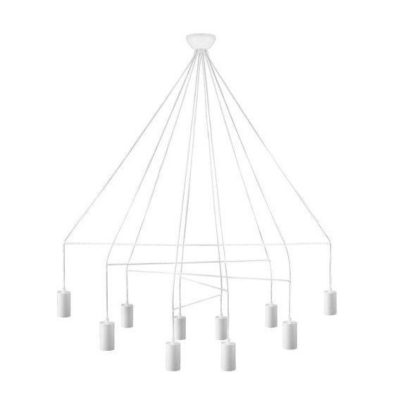 nowoczesny żyrandol geometryczny biały