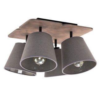 Szara lampa sufitowa Awinion - 4 abażury