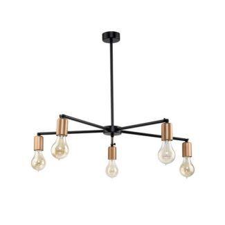 Industrialny żyrandol Sticks - 5 źródeł światła