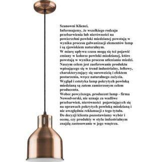 Industrialna lampa wisząca Petra - metalowa