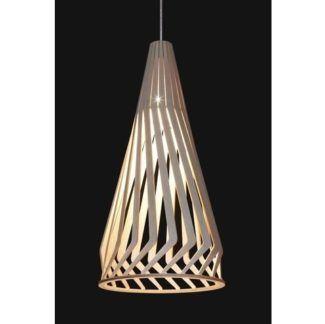 Lampa wisząca Bio - drewniany klosz ze sklejki