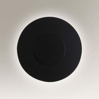 Minimalistyczny płaski kinkiet Chita - czarny