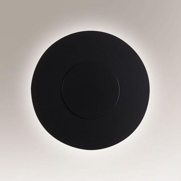 płaski czarny kinkiet płytka do salonu