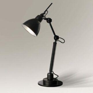 Skandynawska lampa biurkowa Daisen - czarna