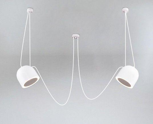 biała lampa wisząca pająk