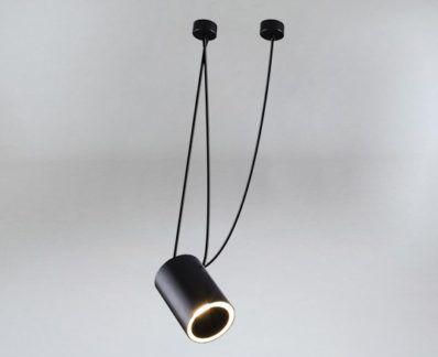 Wyjątkowa lampa wisząca Dubu z kloszem tubą - czarna