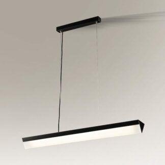 Podłużna nowoczesna lampa wisząca Daito - czarna