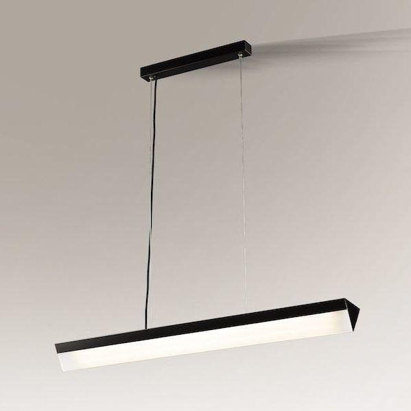 Podłużna nowoczesna lampa wisząca Daito czarna