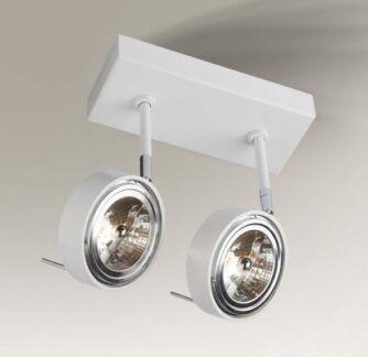 Nowoczesny podwójny reflektorek Fussa - biały