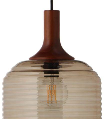 szklana lampa wisząca skandynawska