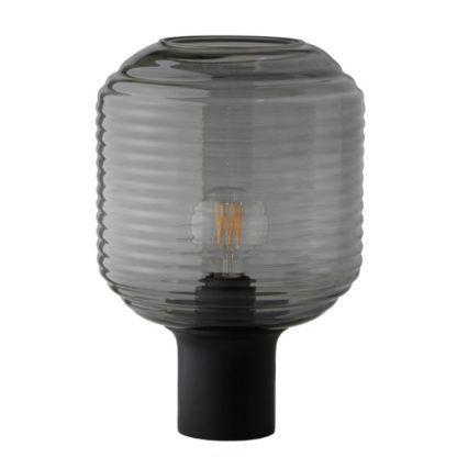 szklana lampa stołowa designerska