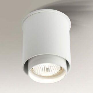 Lampa spot natynkowy Iga - okrągła biała