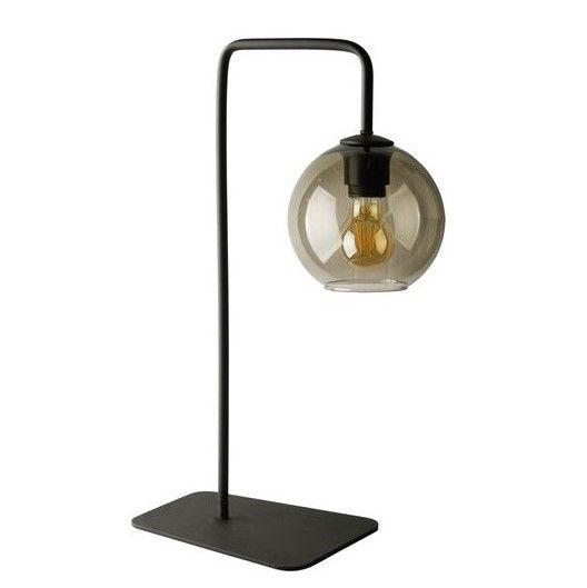 lampa stołowa ze szklanym kloszem