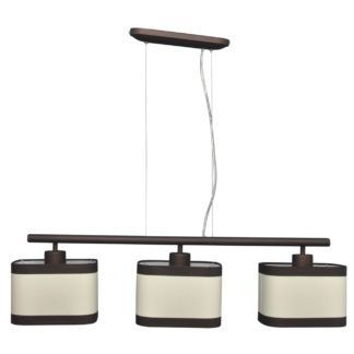Lampa wisząca Selene - 3 abażury, odcienie brązu