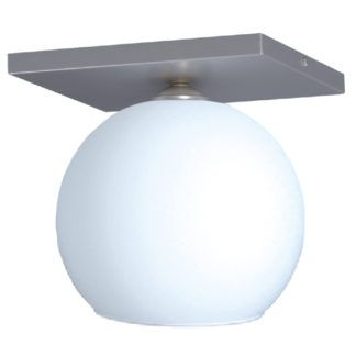 Szklana lampa sufitowa Satin - biała kula ze szkła
