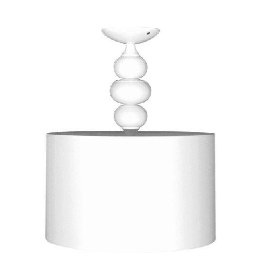 Lampa sufitowa Ibis - biała, z abażurem