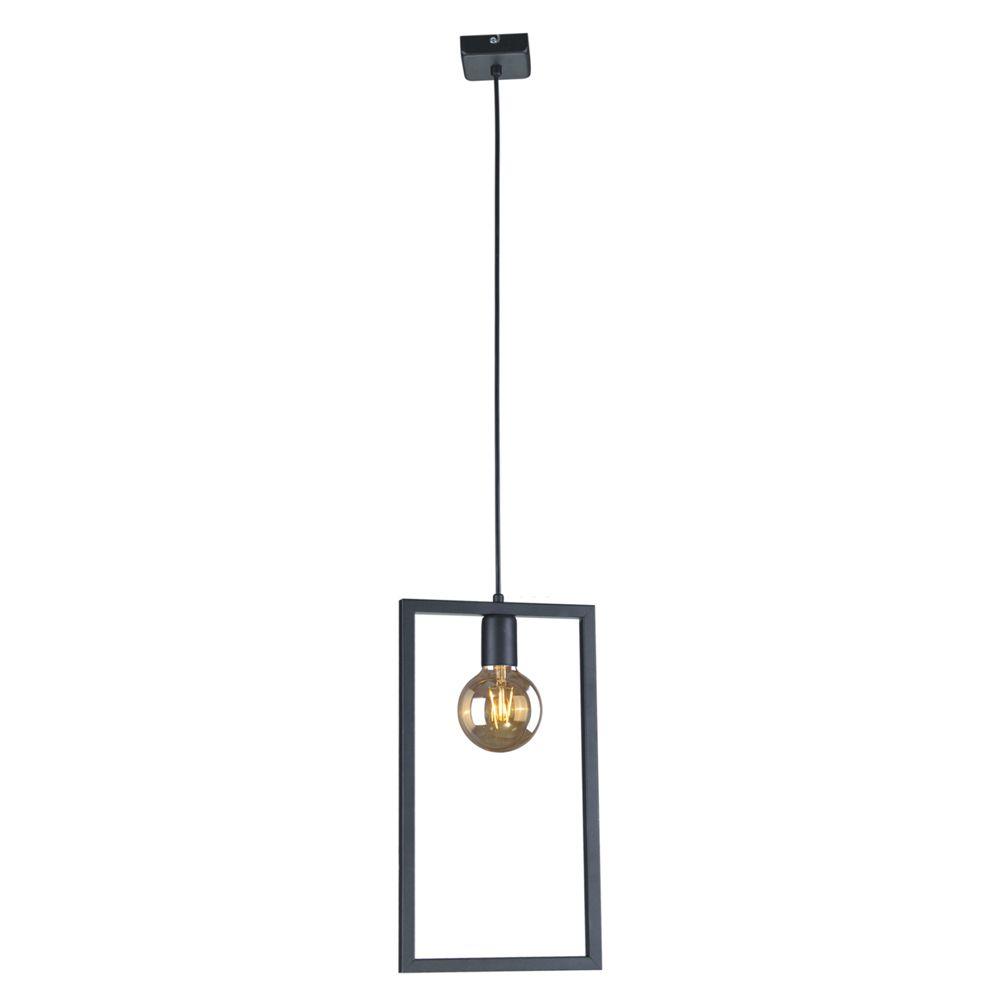 Lampa wisząca Lavaya - czarny, prostokątny klosz