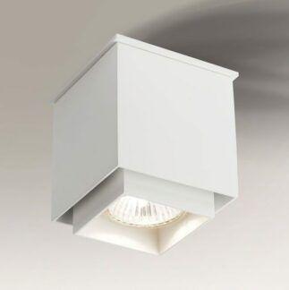 Lampa sufitowa spot Kazo - kwadratowa biała