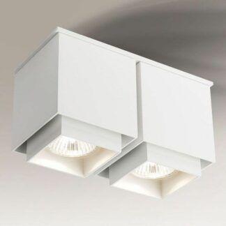 Podwójna lampa punktowa Kazo natynkowa - biała