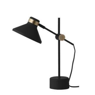 Efektowna lampa stołowa Mr - czarny mat