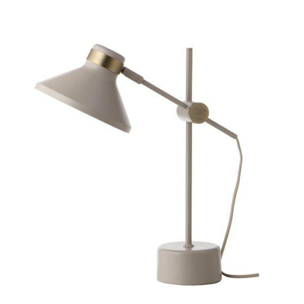 biała lampa biurkowa-aranżacja
