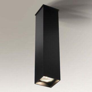 Lampa natynkowa prostokątna Toda  - czarna