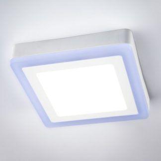 Nowoczesny plafon Dos - niebieska poświata, LED