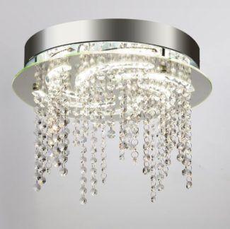 Efektowny plafon Diana - kryształki, styl glamour