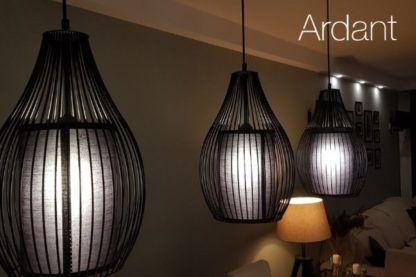 druciane lampy z abażurem aranżacja