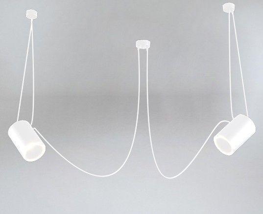 biała lampa wisząca pająk z białymi kloszami
