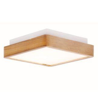 Stylowy plafon Finter - drewniana oprawa