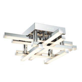 Nowoczesna lampa sufitowa Gozo - srebrna, LED