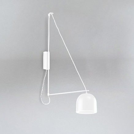 nowoczesny biały kinkiet na wysięgniku